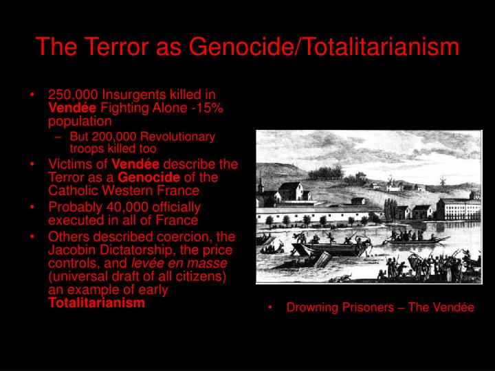 The terror as genocide totalitarianism