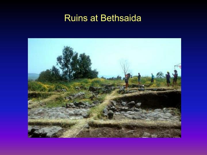 Ruins at Bethsaida
