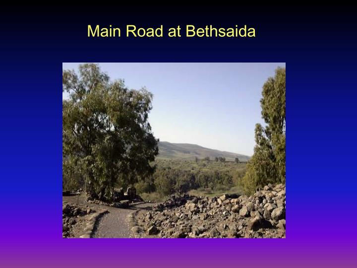 Main Road at Bethsaida