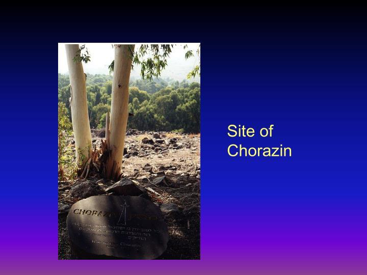 Site of Chorazin