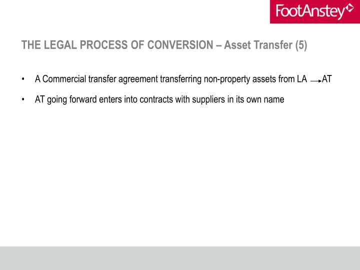 THE LEGAL PROCESS OF CONVERSION – Asset Transfer (5)