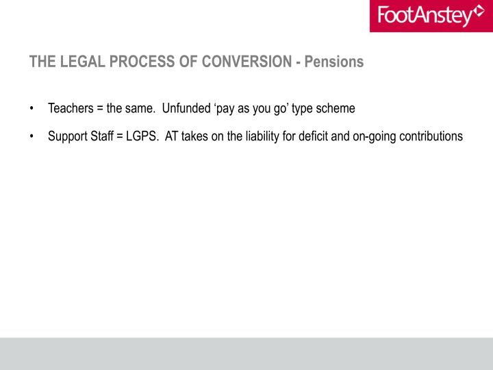 THE LEGAL PROCESS OF CONVERSION - Pensions