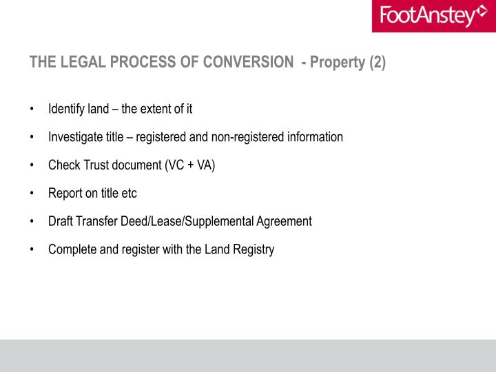 THE LEGAL PROCESS OF CONVERSION  - Property (2)