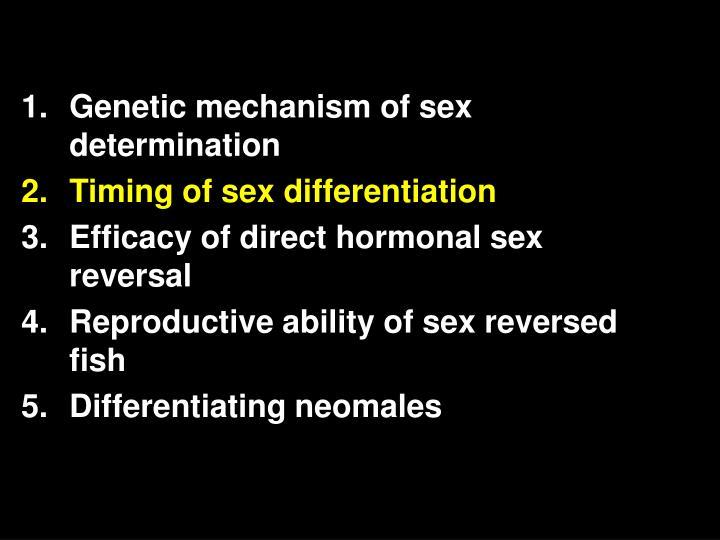 Genetic mechanism of sex determination