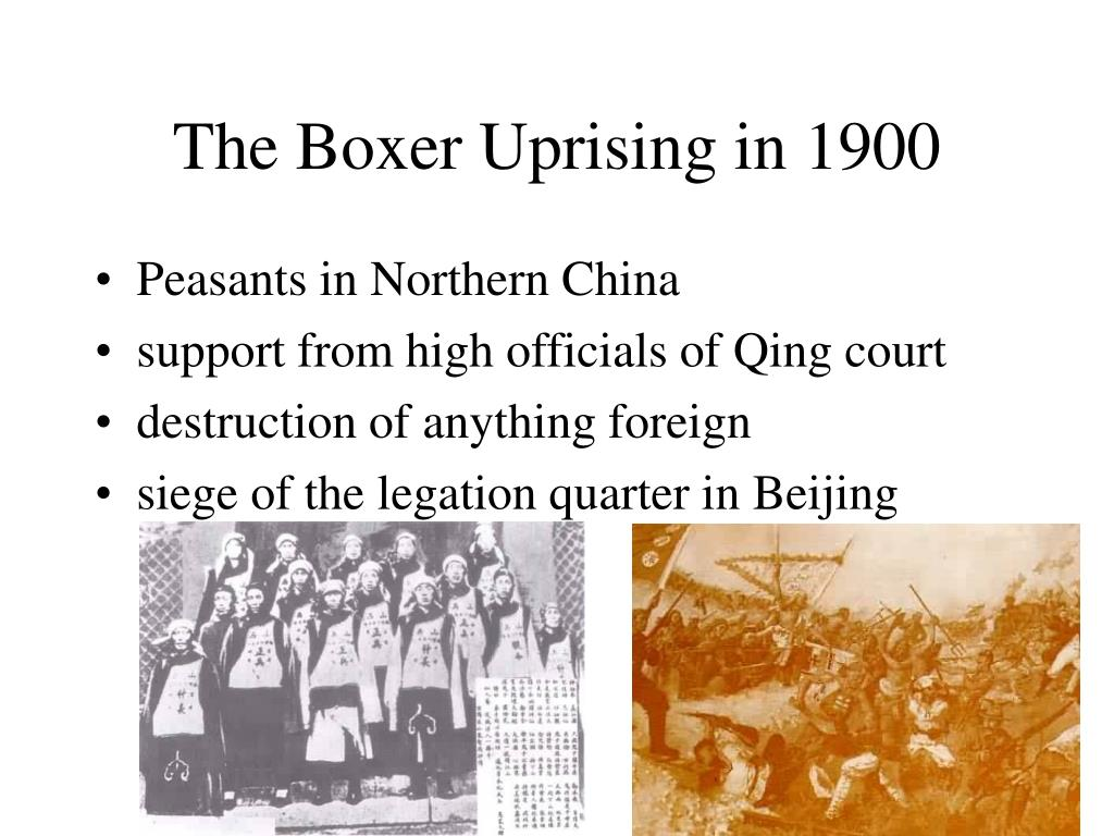 The Boxer Uprising in 1900