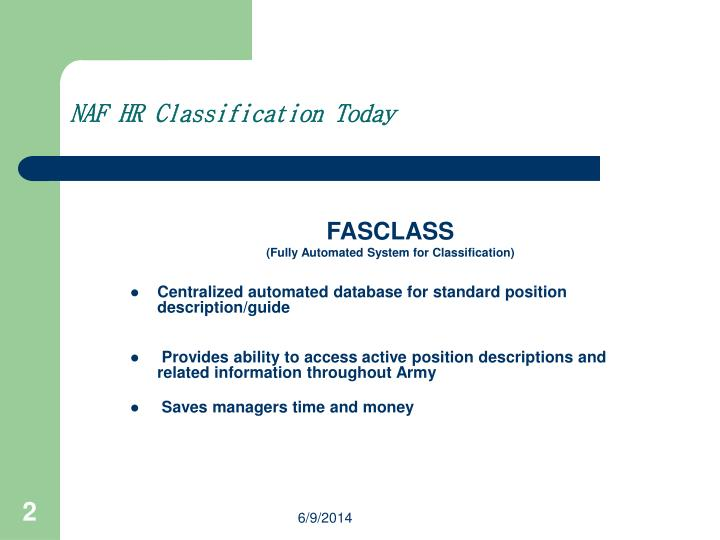 NAF HR Classification Today