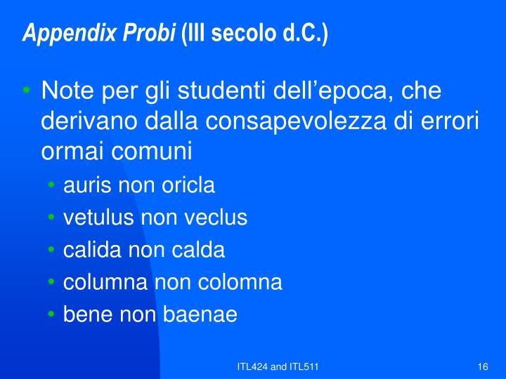 Appendix Probi