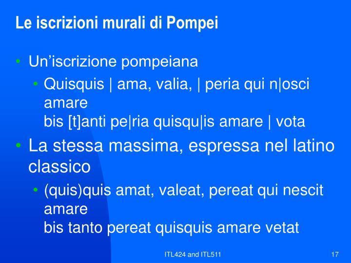 Le iscrizioni murali di Pompei