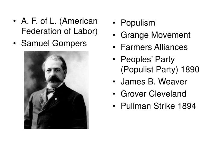 A. F. of L. (American Federation of Labor)