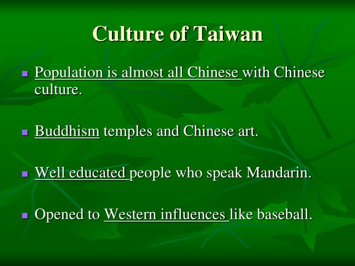 Culture of Taiwan