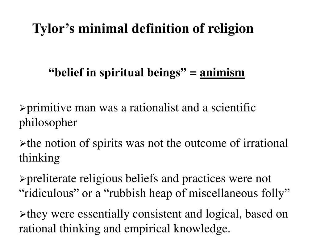 Tylor's minimal definition