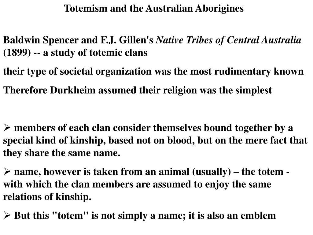 Totemism and the Australian Aborigines
