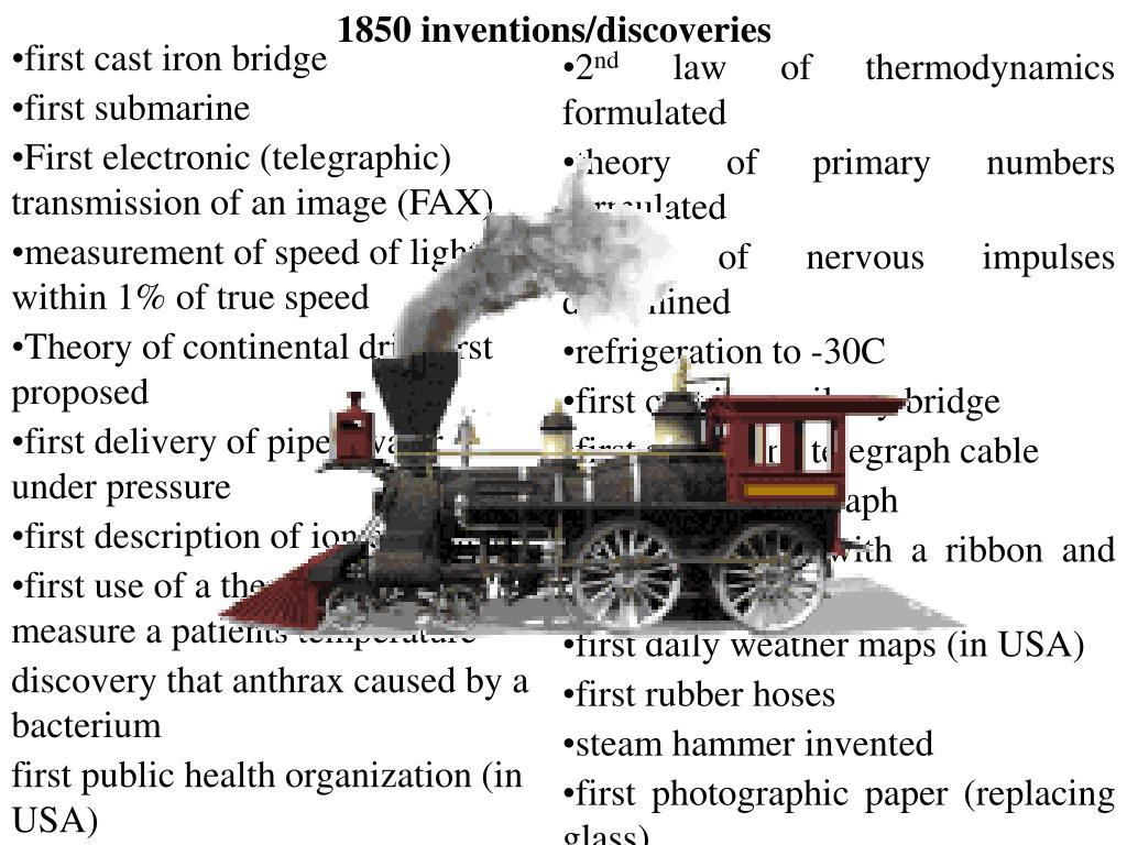 1850 inventions/discoveries
