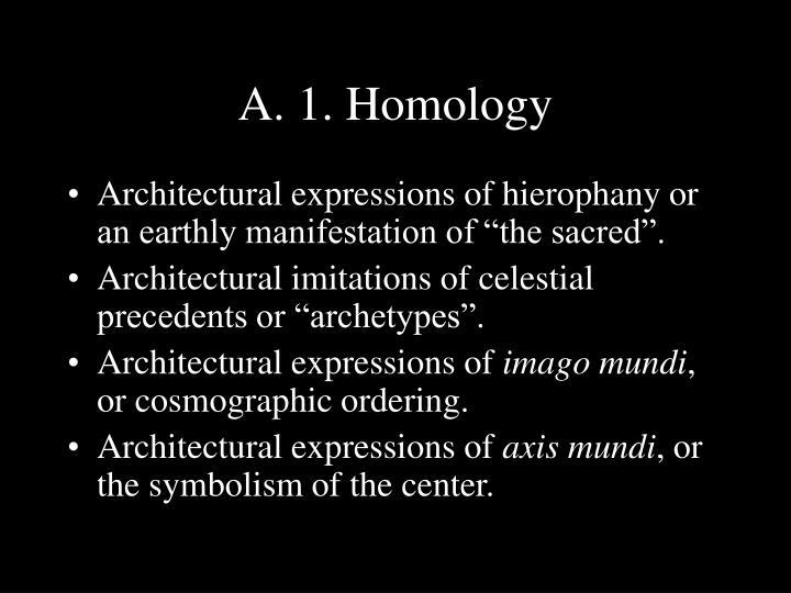 A. 1. Homology