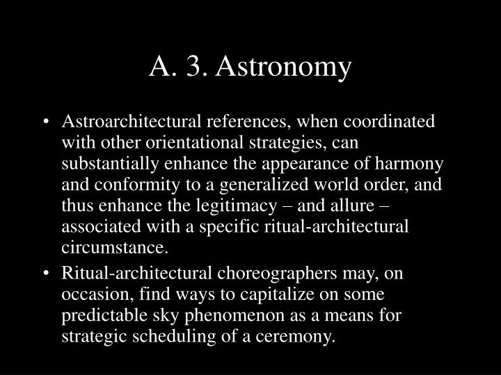 A. 3. Astronomy
