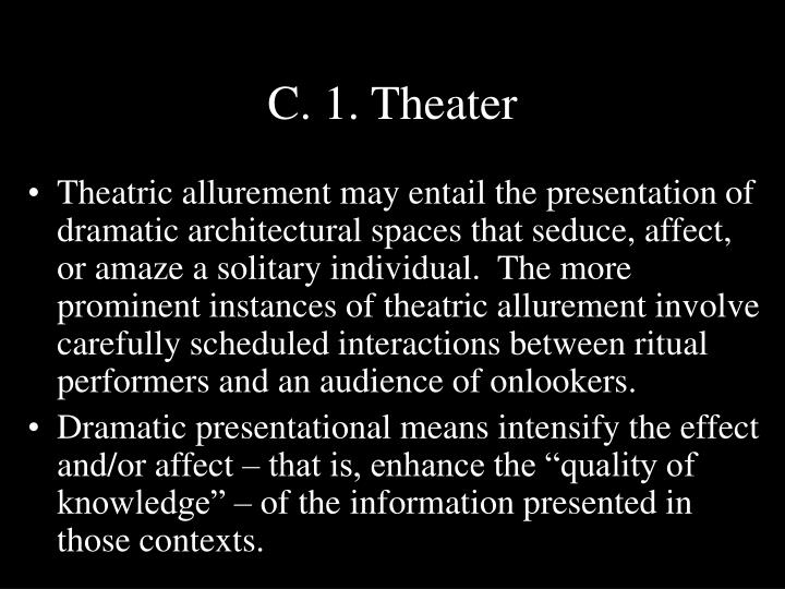 C. 1. Theater