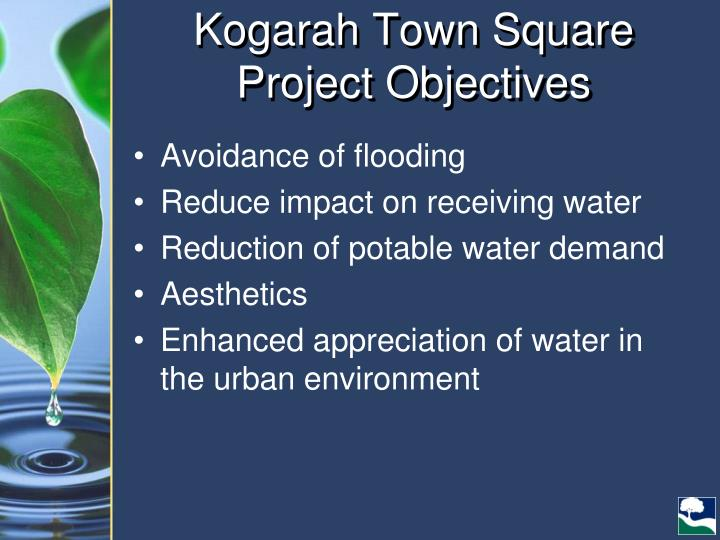 Kogarah Town Square Project Objectives