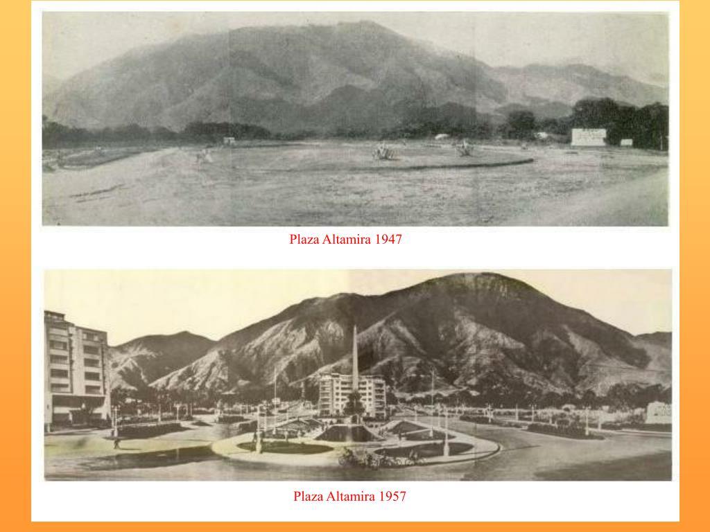 Plaza Altamira 1947