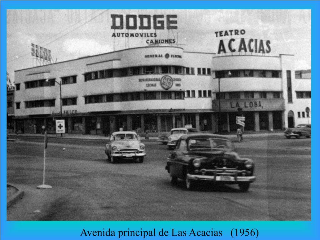 Avenida principal de Las Acacias   (1956)
