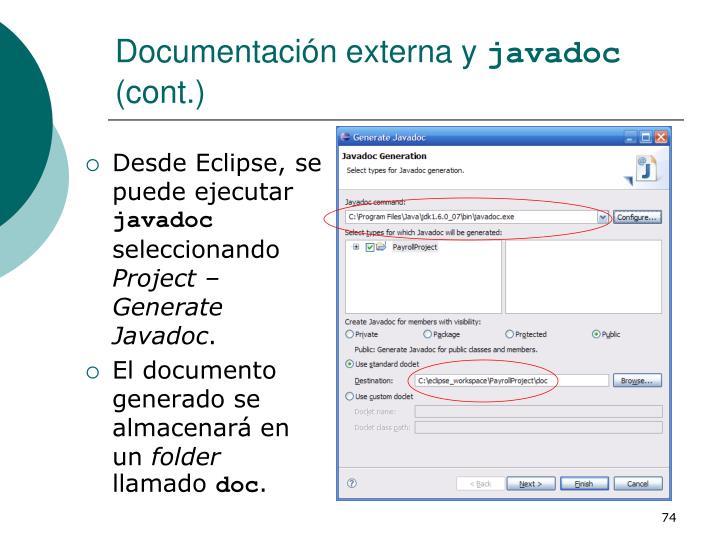 Documentación externa y