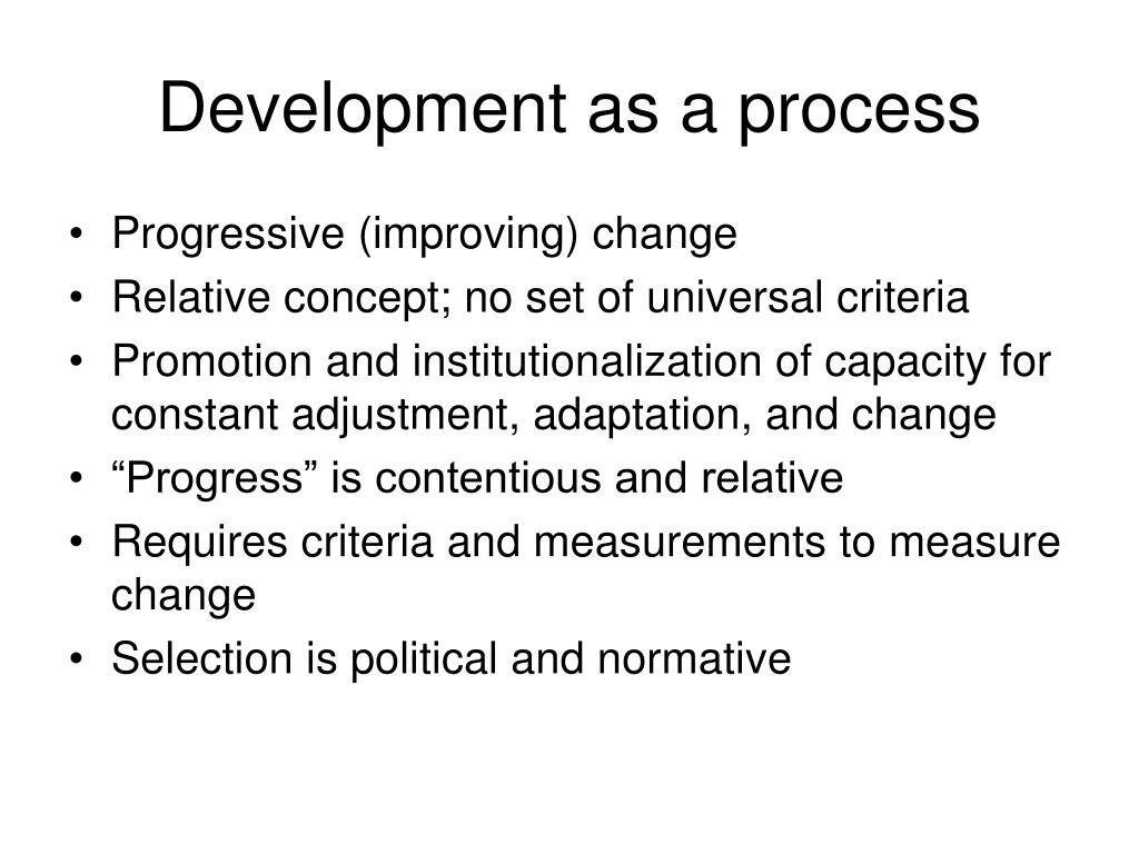 Development as a process