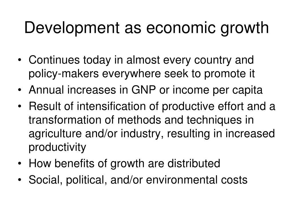 Development as economic growth