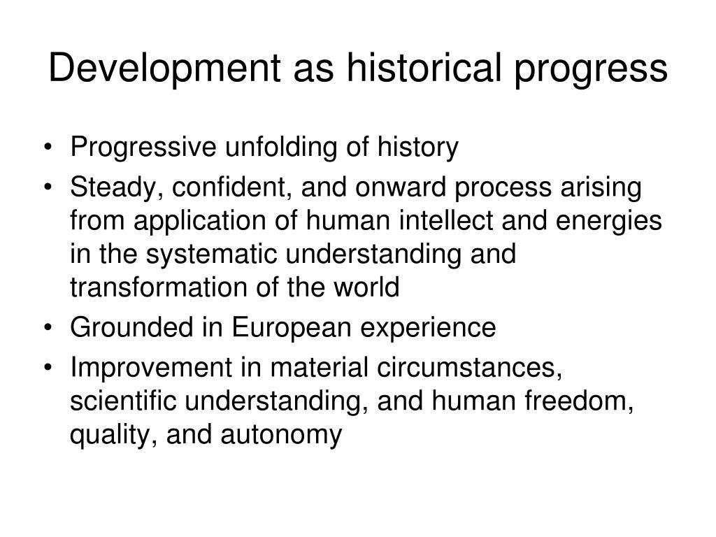 Development as historical progress