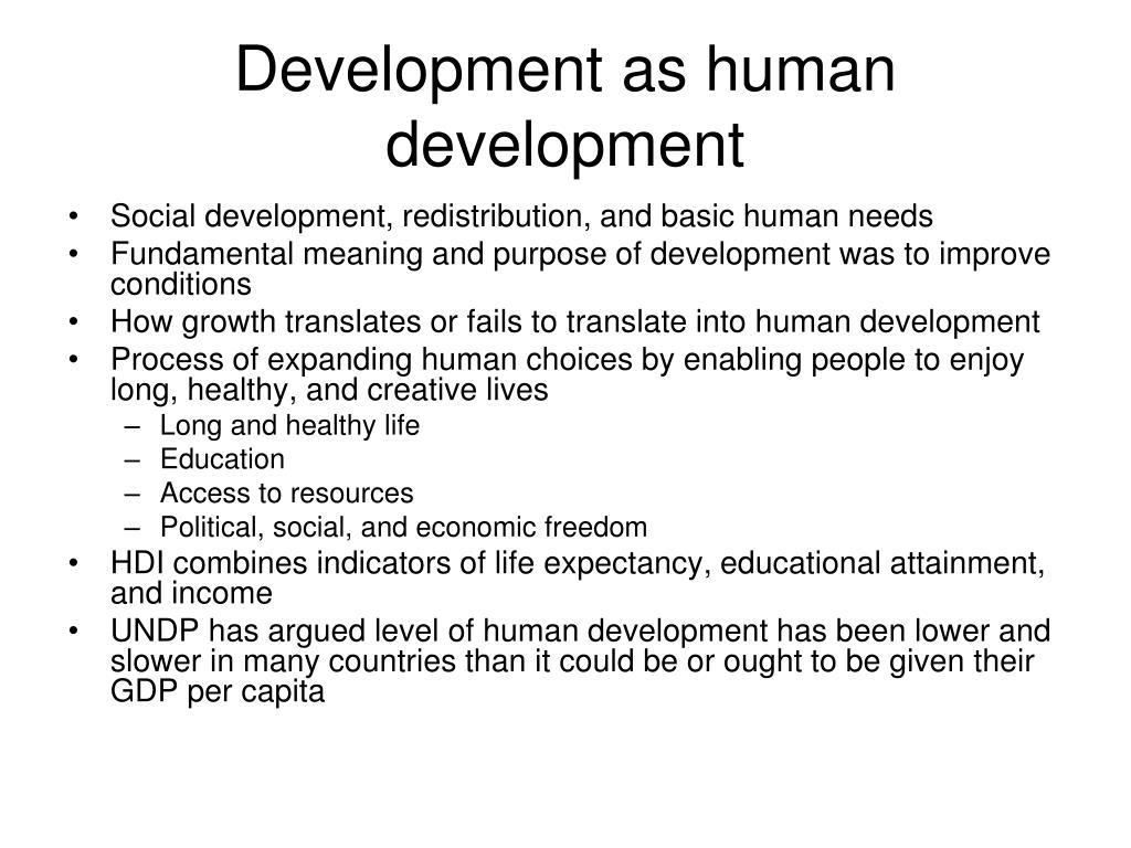 Development as human development