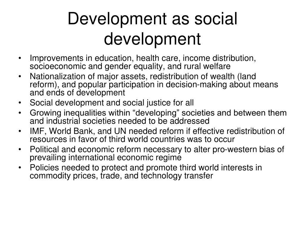 Development as social development