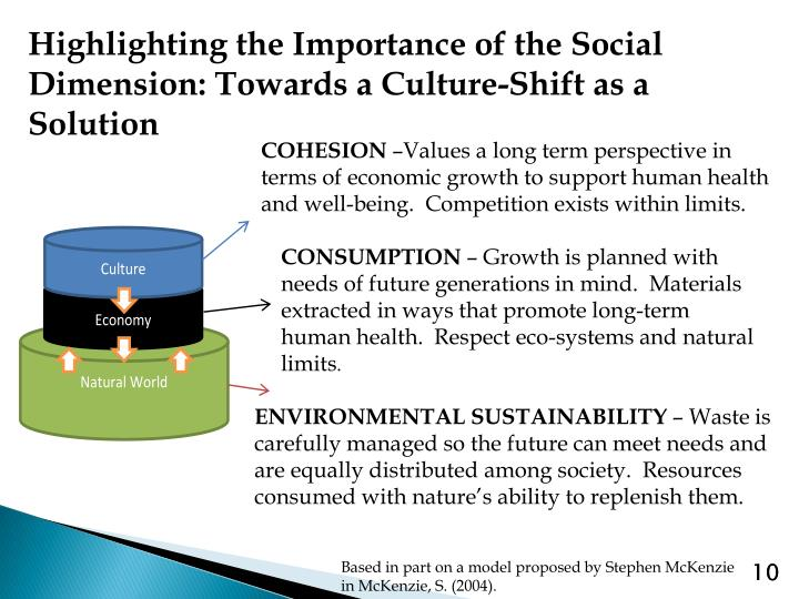 Highlighting the Importance of the Social Dimension: Towards a Culture-Shift as a Solution