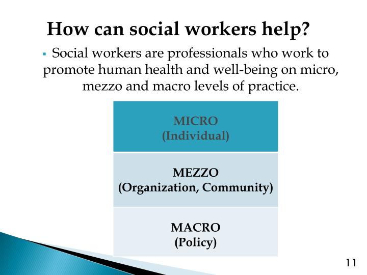 How can social workers help?