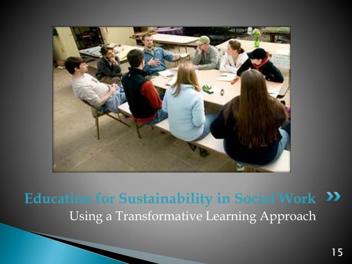 Education for Sustainability in Social Work