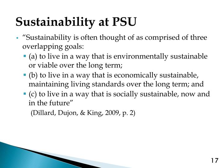 Sustainability at PSU