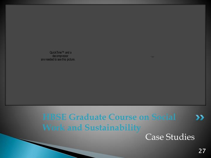 HBSE Graduate Course on Social Work and Sustainability