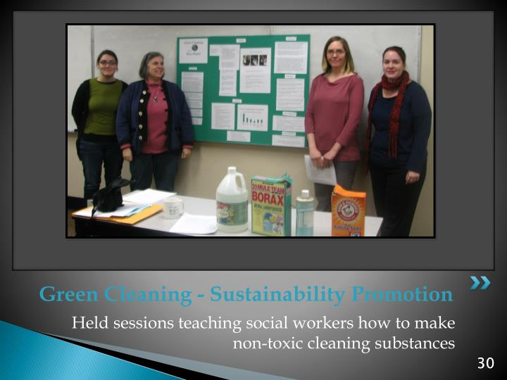 Green Cleaning - Sustainability Promotion
