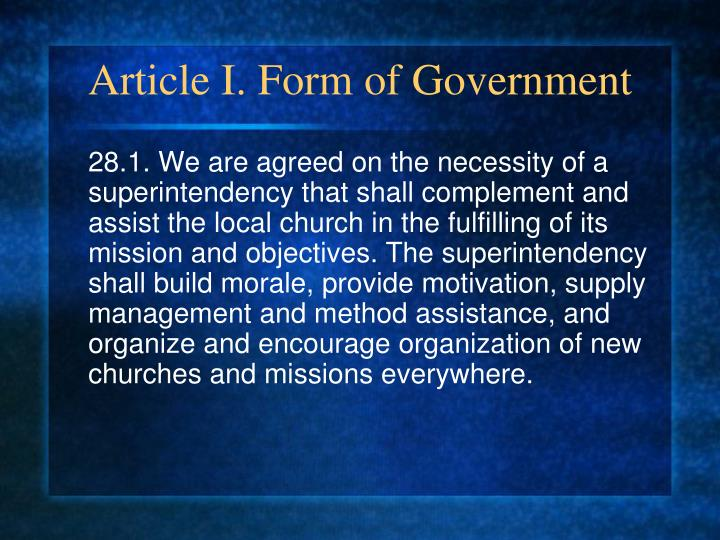 Article I. Form of Government