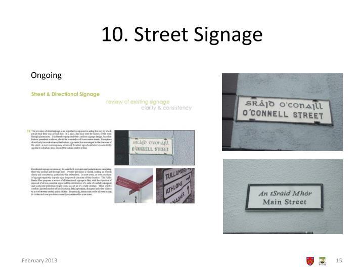 10. Street Signage