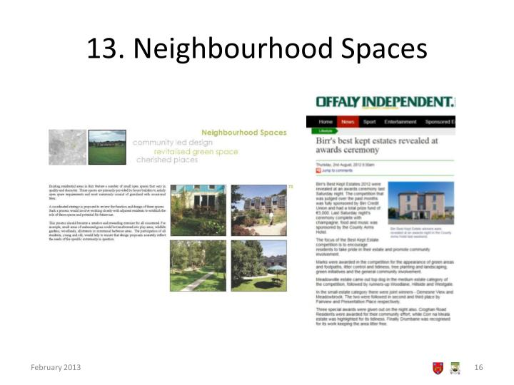 13. Neighbourhood Spaces