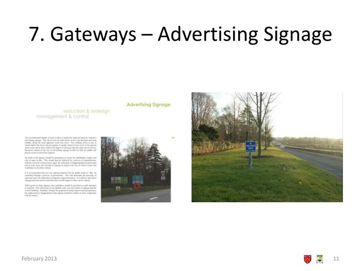 7. Gateways – Advertising Signage