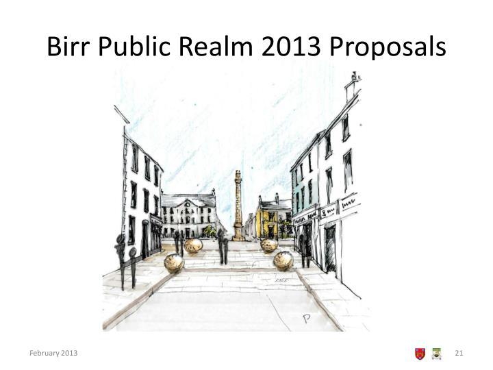 Birr Public Realm 2013 Proposals