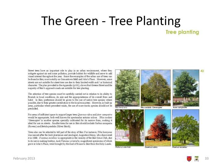 The Green - Tree Planting