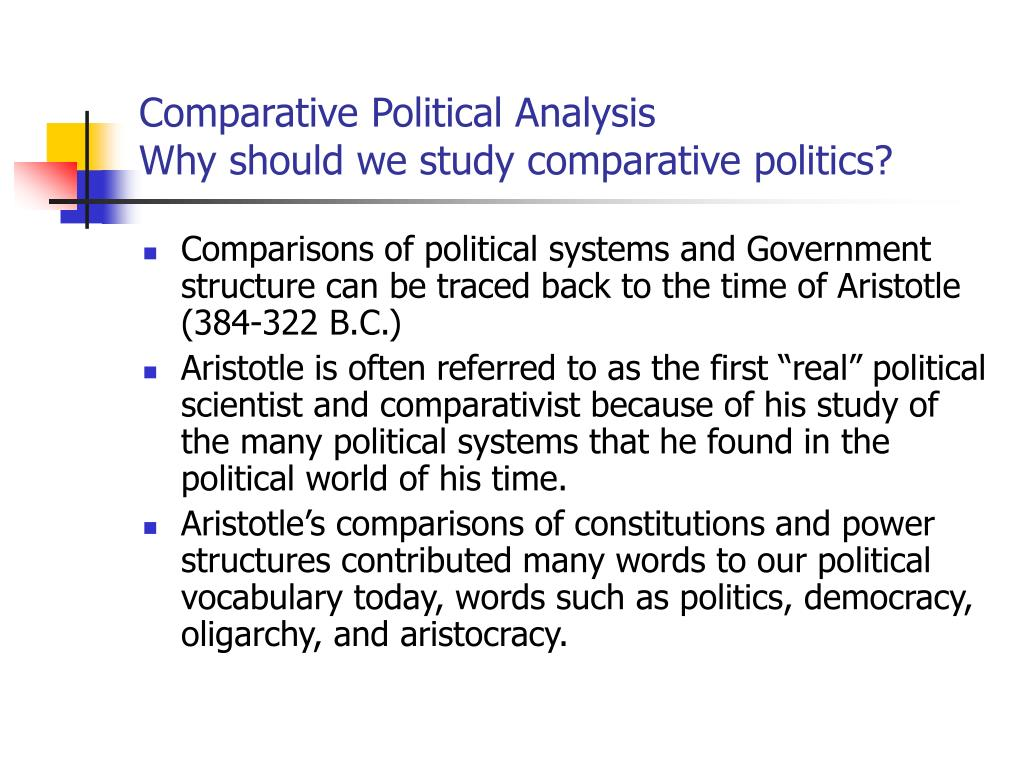 Comparative Political Analysis