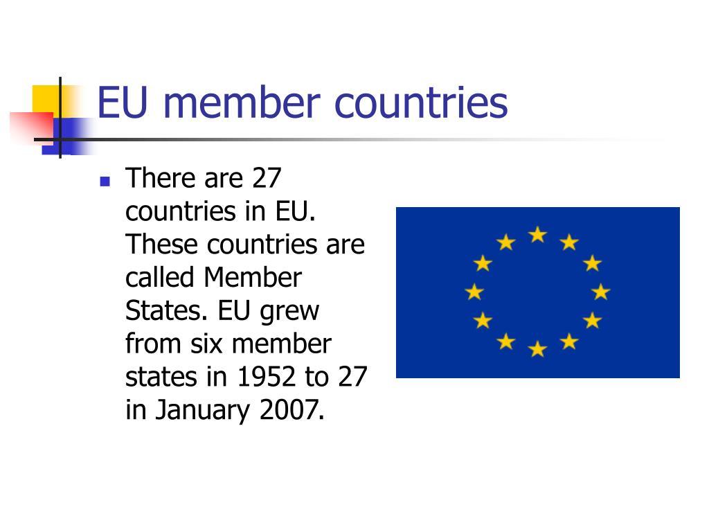 EU member countries