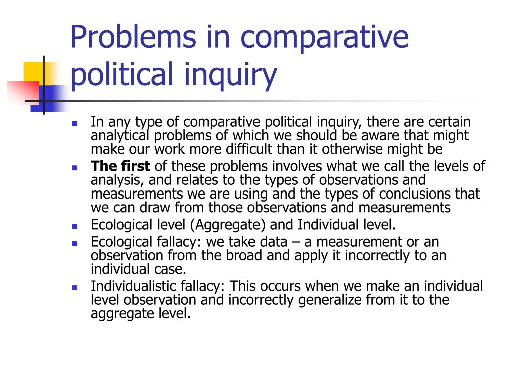 Problems in comparative political inquiry
