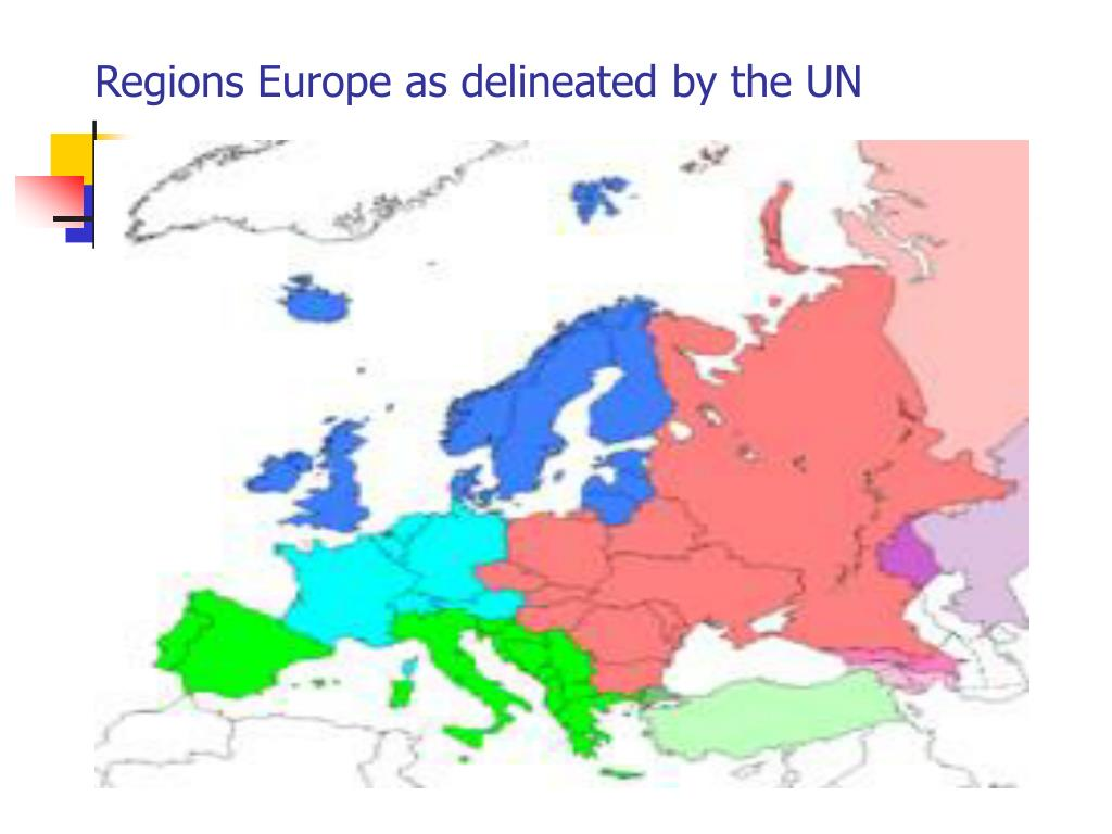Regions Europe as delineated by the UN