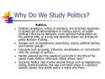 why do we study politics