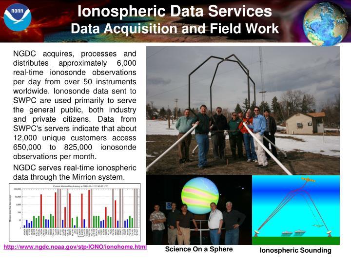 Ionospheric Data Services