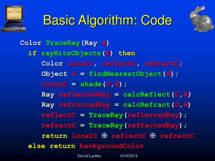 Basic Algorithm: Code