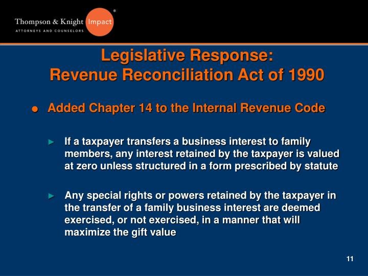Legislative Response: