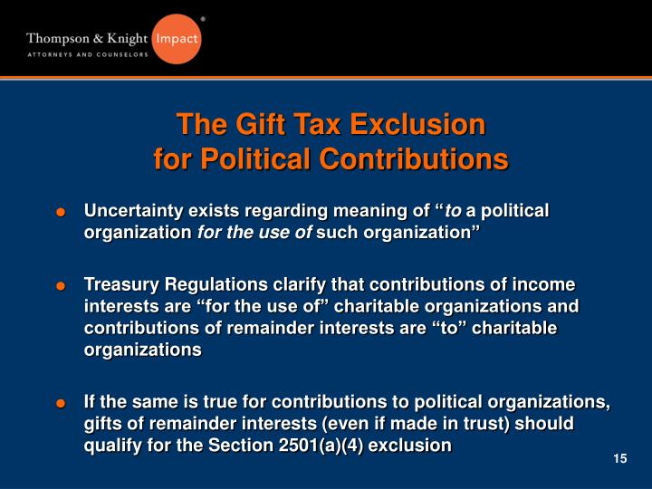 The Gift Tax Exclusion